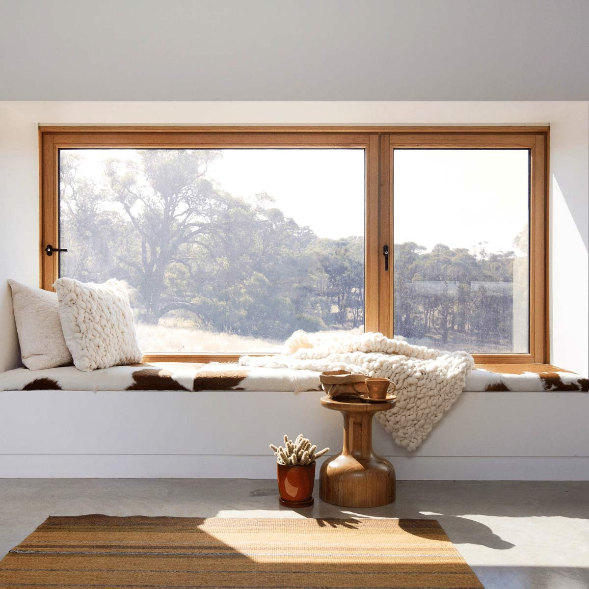 Finestre in legno scorrevoli